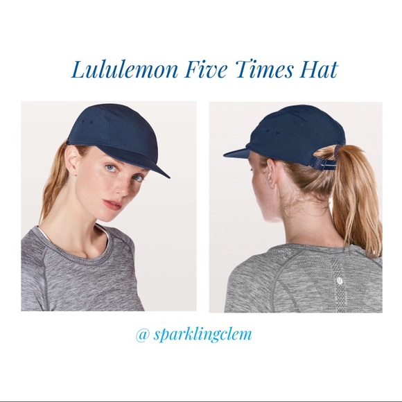 c32a5a1b lululemon athletica Accessories | Nwt Lululemon Five Times Hat Navy ...